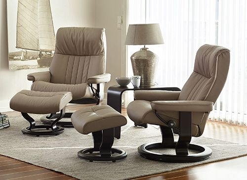 Stressless Crown Recliner With Ottoman By Ekornes