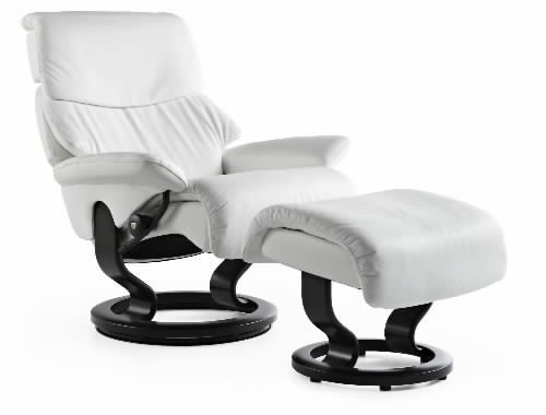 separation shoes 84d41 c2c79 Stressless Vision Recliner Chair with Ottoman by Ekornes