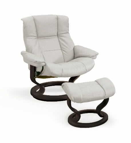 Stressless Mayfair Recliner Chair with Ottoman by Ekornes