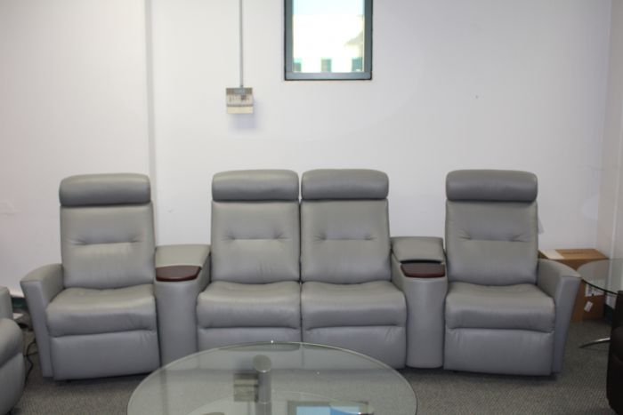 Fantastic Fjords Madrid Cinema 4 Seat Power Reclining Sofa In Astro Line Soft Grey Gmtry Best Dining Table And Chair Ideas Images Gmtryco