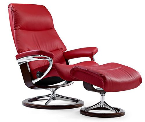 sale retailer 712fd a3f4b Stressless View Recliner with Ottoman by Ekornes