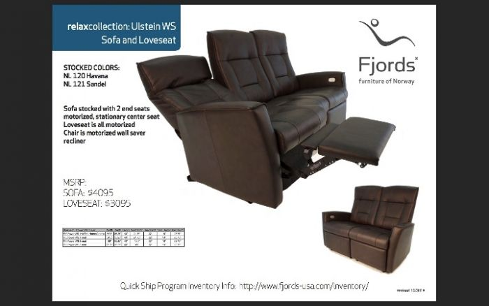 Superb Fjords Ulstien Wall Saver Series Power Recliner Recliner Loveseat Or Sofa Onthecornerstone Fun Painted Chair Ideas Images Onthecornerstoneorg